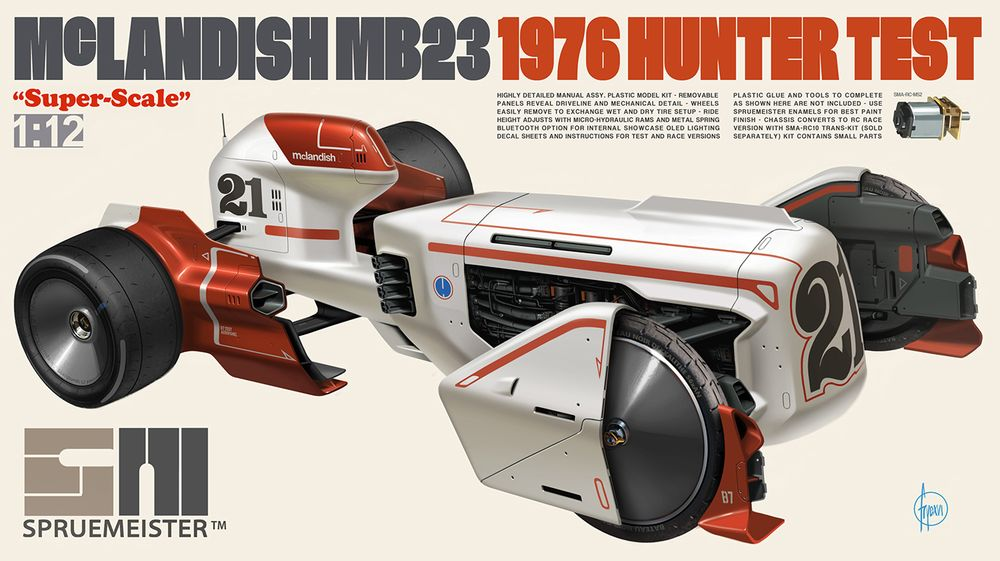These Driverless F1 Car Model Kits Are From An Alternate