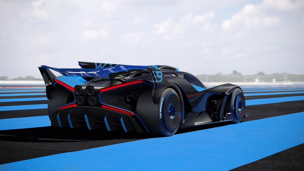 Bugatti - The 1240kg, Track-Only Bugatti Bolide Has An 1825bhp Chiron Engine - News