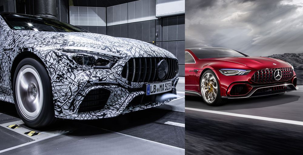 These New Teasers Reveal The Four-Door Mercedes-AMG GT Coupe - Euro