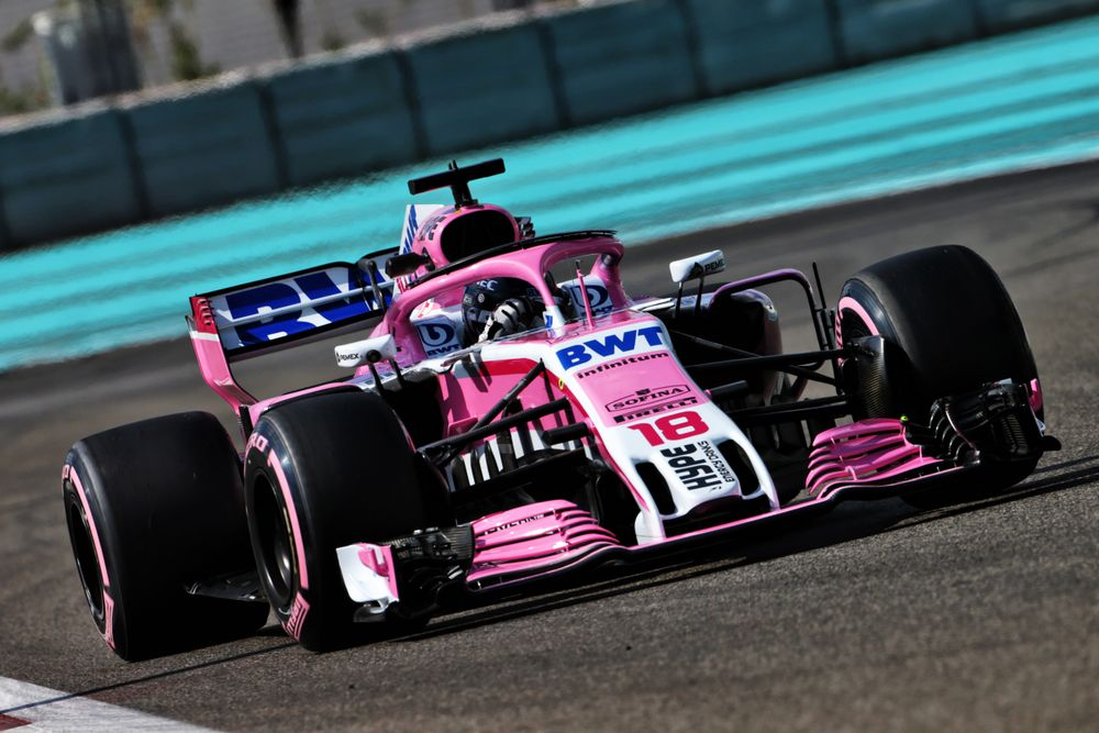 Stroll has already been testing for the team in Abu Dhabi. (c) Force India