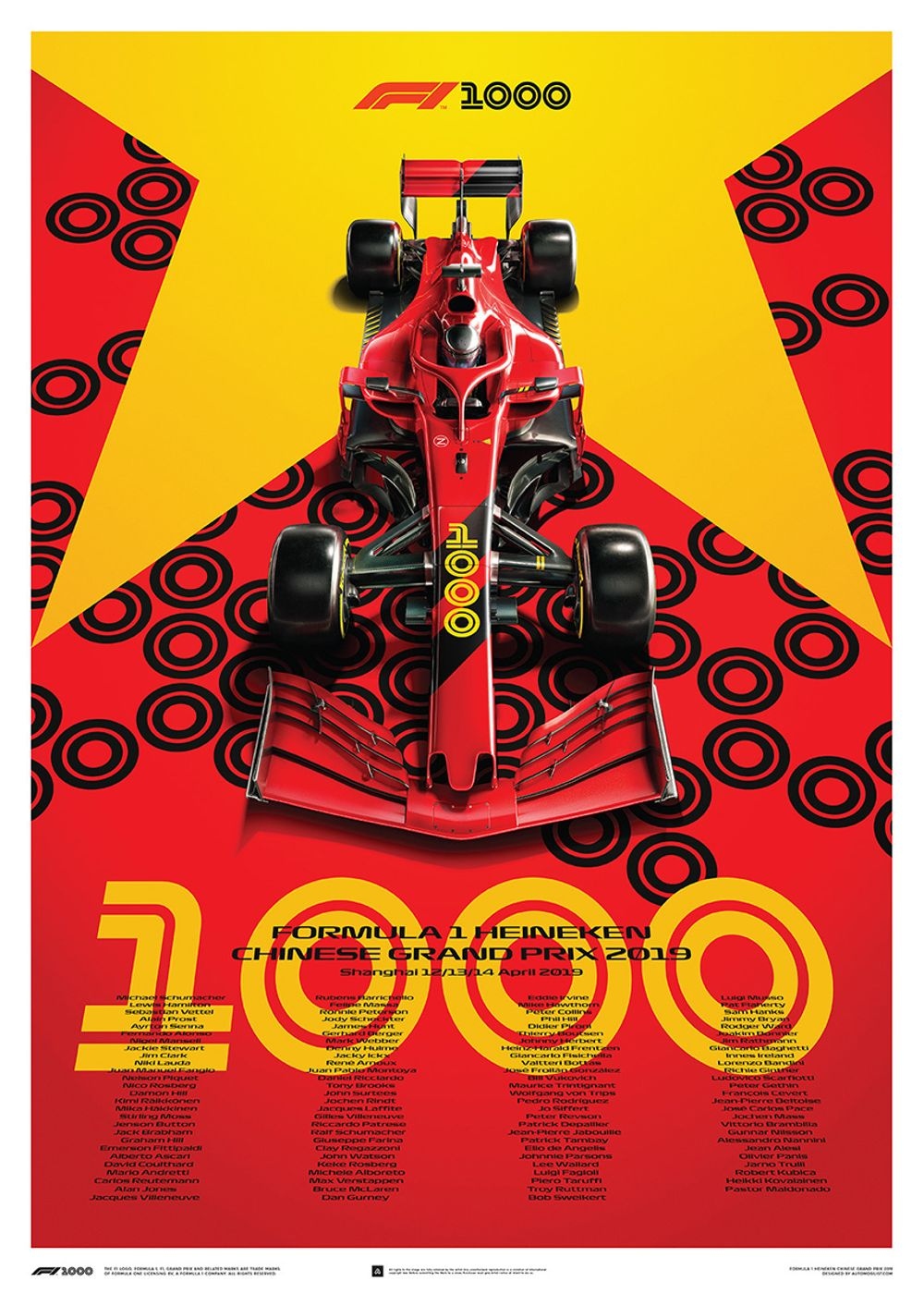Decorative Infused Olive Oil: These Epic Posters Have Been Made To Celebrate F1's 1000th