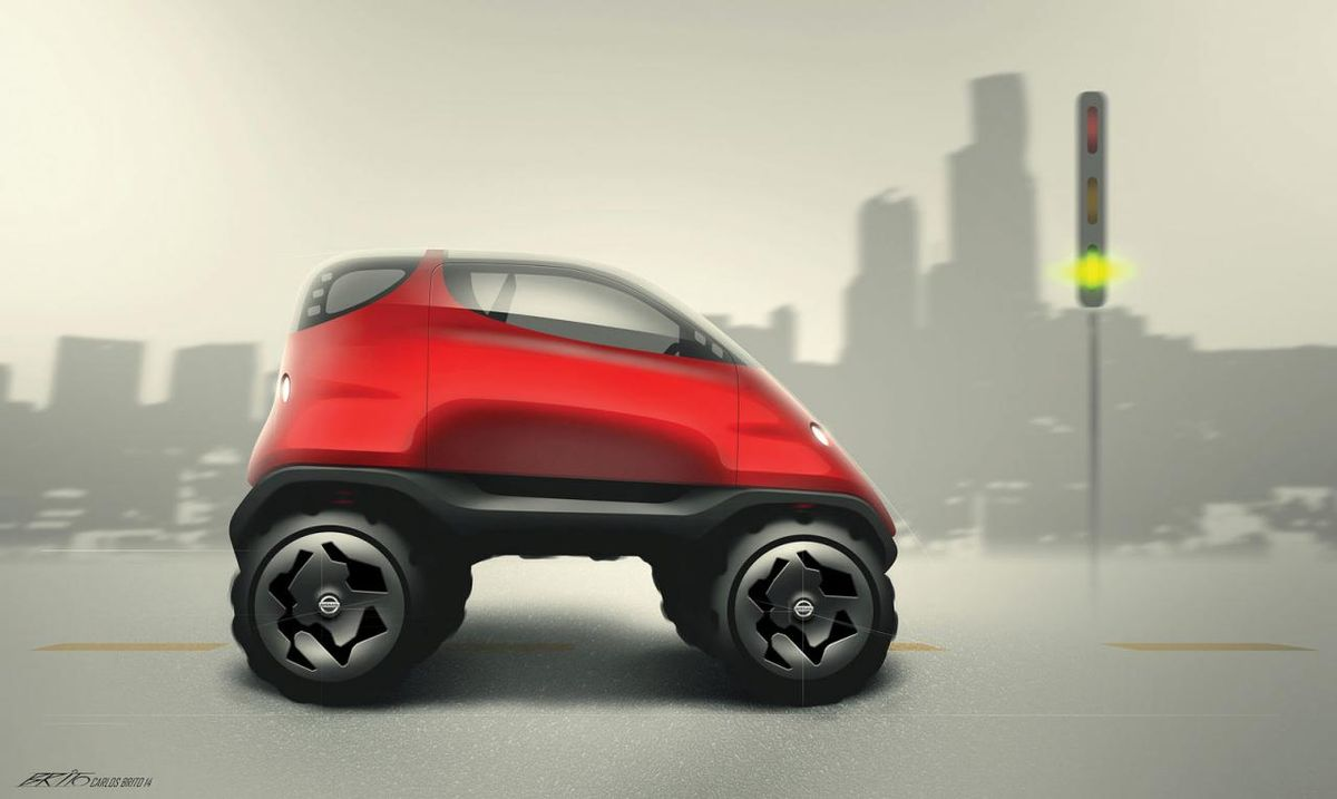 good guy nissan turned these kids 39 car drawings into awesome concepts. Black Bedroom Furniture Sets. Home Design Ideas