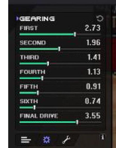 Pixel racer gearing ?