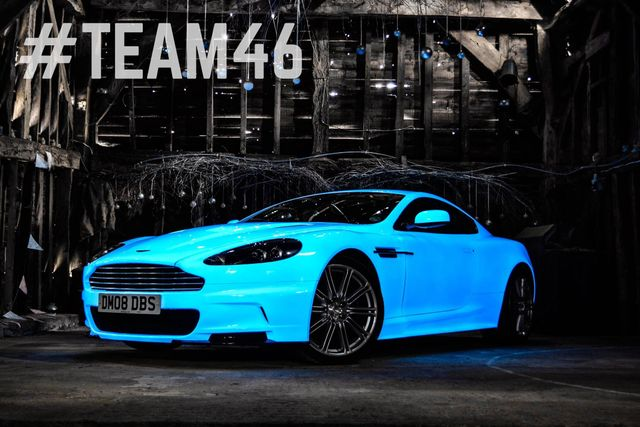This Awesome Glow In The Dark Aston Martin Will Be Cruising To Las Vegas On The Gumball 3000