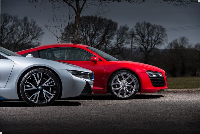 Bmw I8 Vs First Gen Audi R8 Can A Slice Of Future Porn Beat Old School V8 Thrills