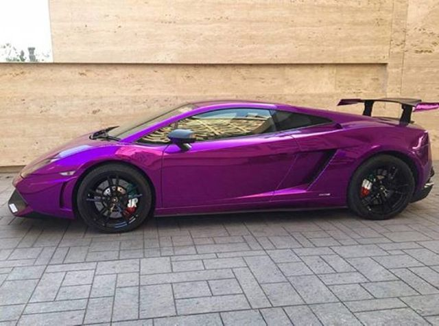 India S Only Lamborghini Gallardo Sts Gets Wrapped In Purple Chrome
