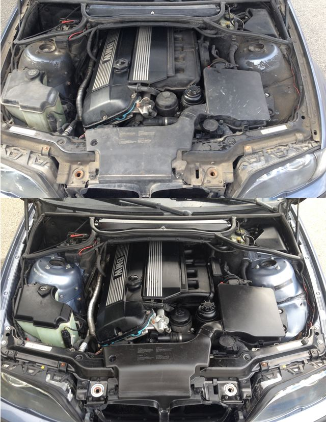 3h Engine Bay Cleaning On E46 330xit