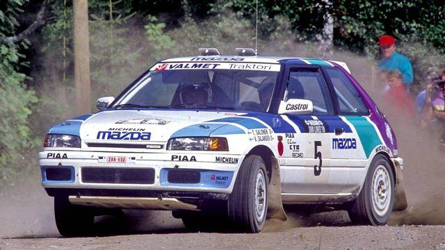 Znalezione obrazy dla zapytania Mazda 323 GT-R Rally