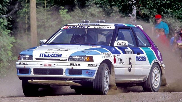 Znalezione obrazy dla zapytania Mazda 323 gtr rally group a