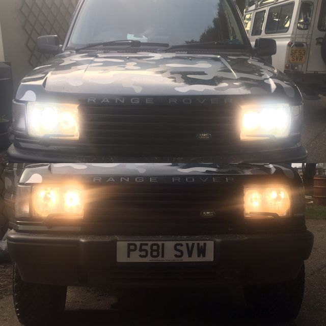 Fitted new upgrade lights to my Range Rover p38
