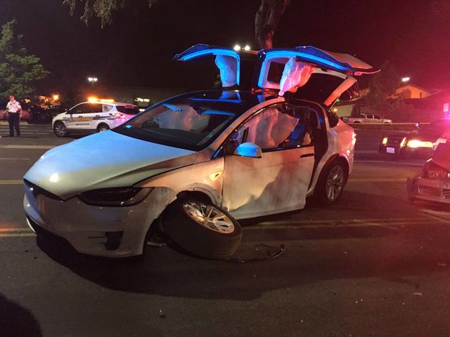 Man Brands Elon Musk A Lifesaver After His Tesla Model X Is Hit By A