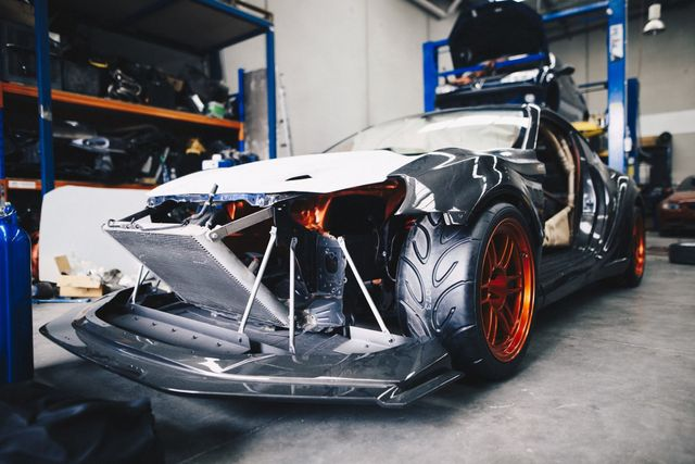 Toyota 86 with a BMW V10 on the dyno