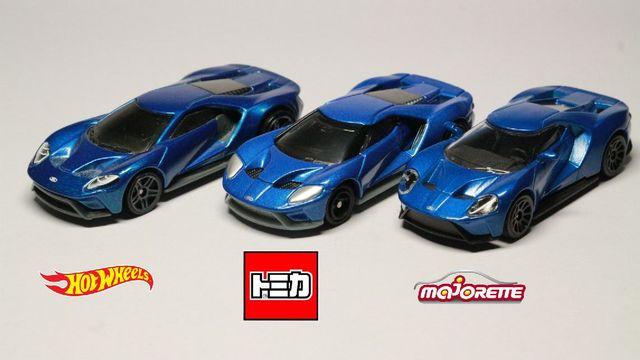 Hot Wheels Vs Tomica Vs Majorette Ford Gt 2017