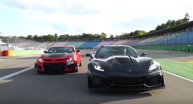 It S A Chevrolet Camaro Zl1 1le Vs Corvette Zr1 Track Face Off