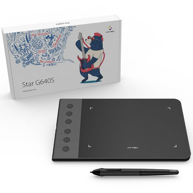 XP-Pen G640S OSU Graphics Drawing Pen Tablet ! with 6 Shortcut Keys