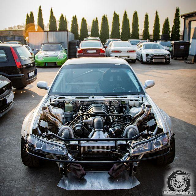 Nissan 200SX with a 1003 hp Twin-Turbo 3UZ V8