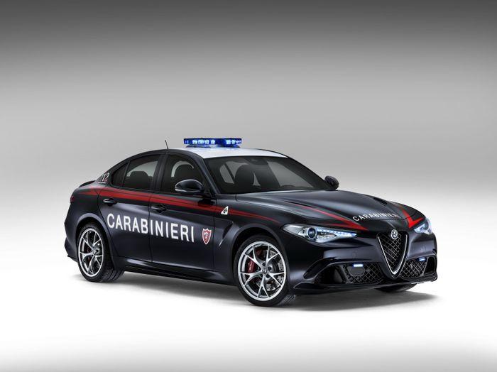 the alfa romeo giulia quadrifoglio carabinieri is the world's