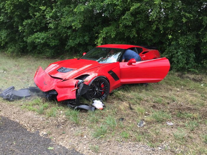 Update Inexperienced C7 Corvette Z06 Driver Crashes His Pride And Joy Into A Tree