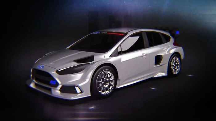 ken block s new 600bhp ford focus rs rallycross machine looks mean as hell. Black Bedroom Furniture Sets. Home Design Ideas