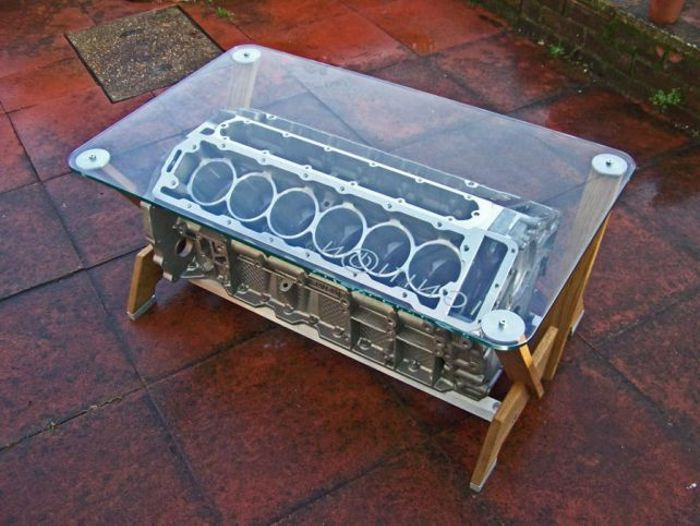 10 coffee tables every petrolhead needs in their house for Car part coffee table