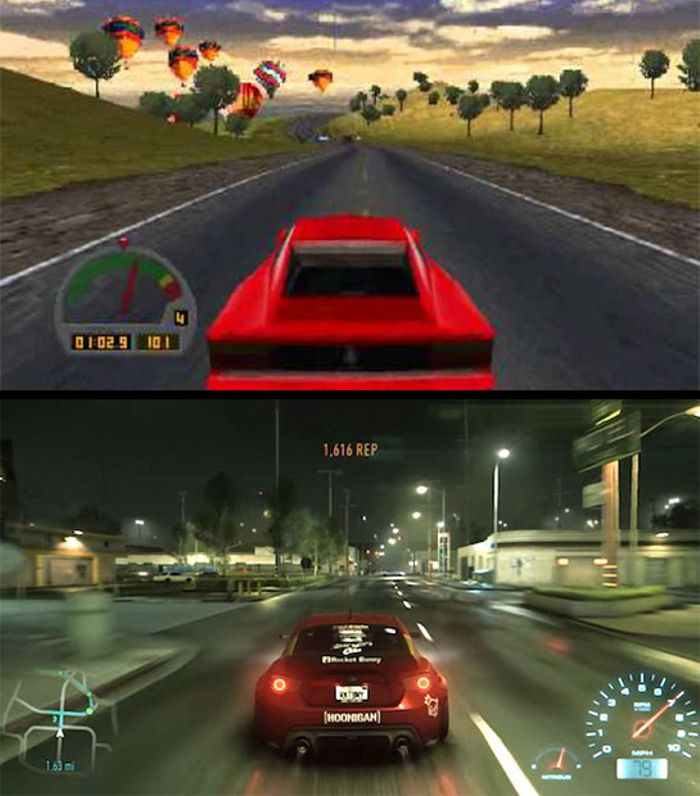 The Need For Speed 1994 Vs 2015