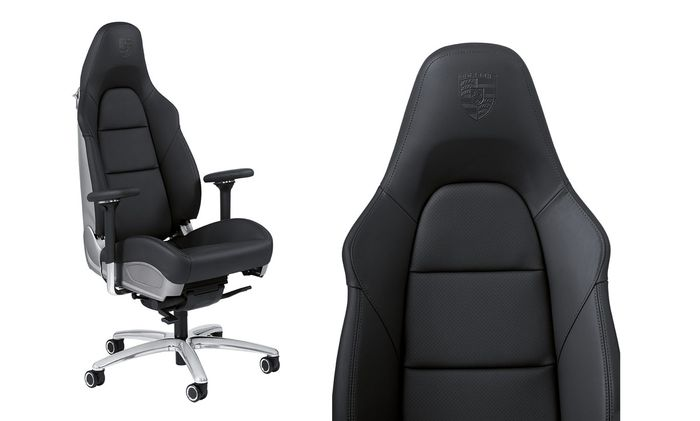 This is a desk chair with a used car\'s price tag. The Porsche office chair  costs £4000 ($5690) and comes with the following features: