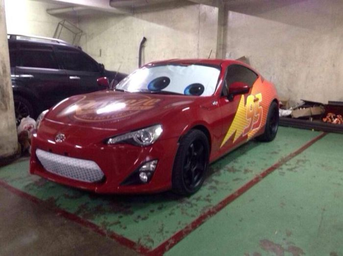 Source Speedworks Engineering & Good Guy Dad Turned His GT86 Into Lightning McQueen For His Son azcodes.com