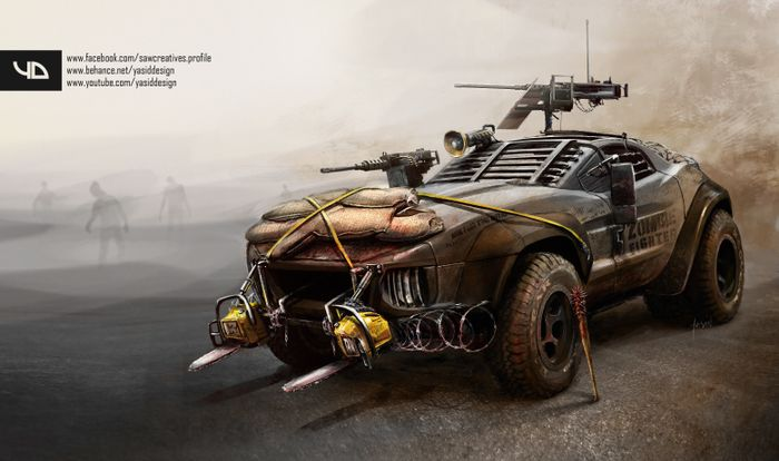 9 mad max car renders that should 39 ve made the movie. Black Bedroom Furniture Sets. Home Design Ideas
