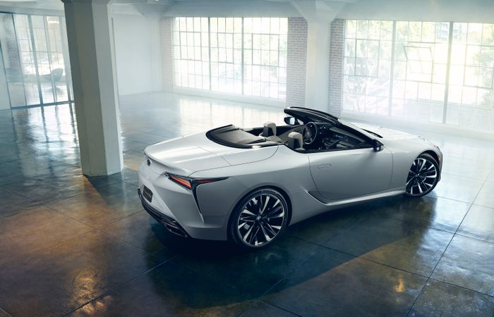 The Lexus LC Convertible Concept in Photos