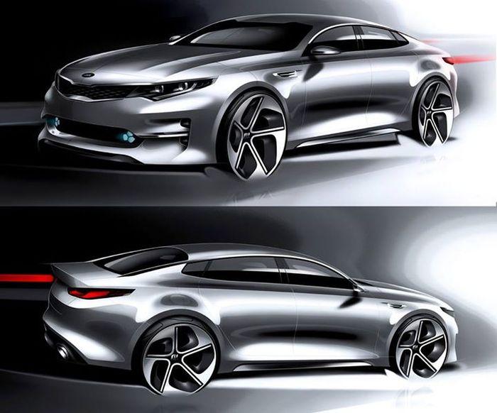 Kia K5 Optima Concept Sketch