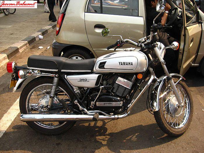 Yamaha RD350 India version, close to 200bhp/ton, drum brakes