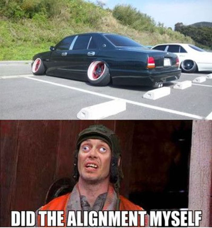 Did the alignment myself ! - Funny