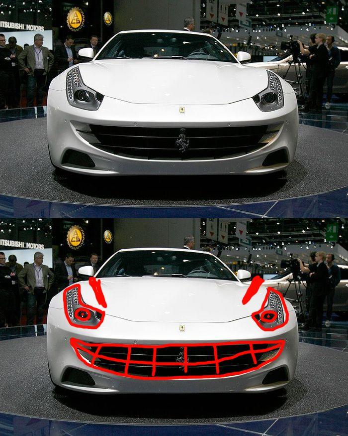 Post Your Favourite Car Faces! I Love The Ferrari FF. It