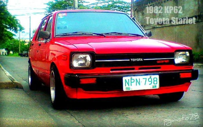 1982 Toyota Starlet  Most of my favorite cars are rwd