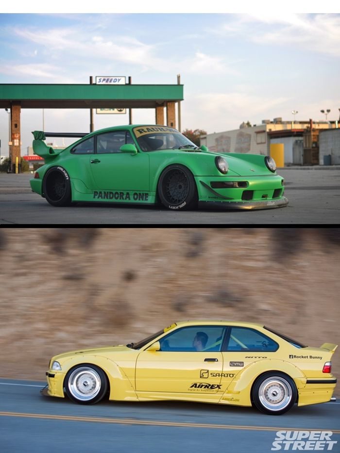 Only Euro Cars I Love With Best Kits On Bmw 3 Serie E36 Sarto Racing Rocket Bunny Kit Porsche