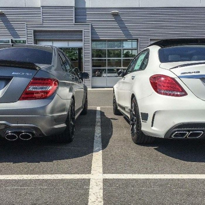 The old and the new C63 AMG