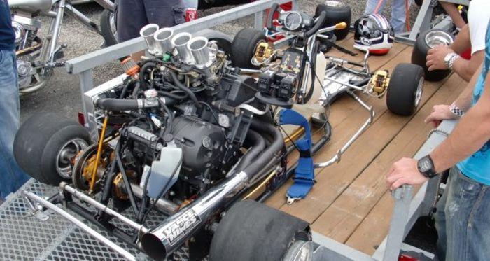 An r1 go kart , 1000 cc top speed of 200 mph /320 kmph