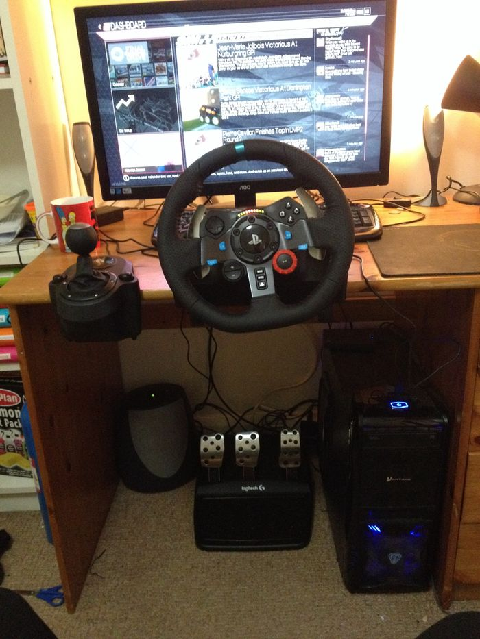 My New Racing Simulator Logitech G29 And Project Cars On My Gaming Pc