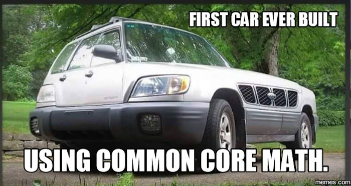 First car built with Common core math! - Car Art