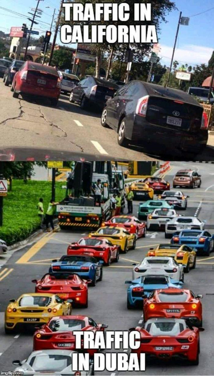 Traffic Jam In California Vs Traffic Jam In Singapore