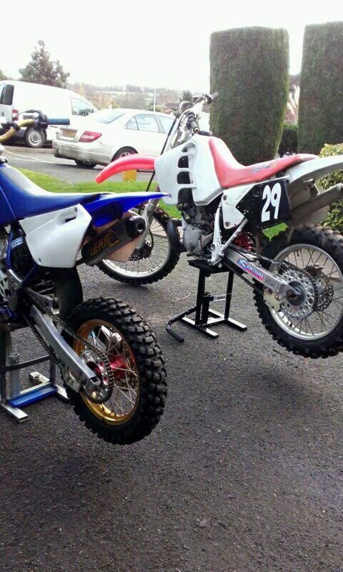 2003 Yamaha Yz 85 And An Old 1995 Honda Crm 250