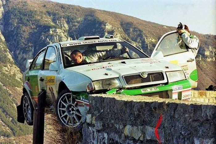 We'll sign off with perhaps the Octavia WRC's most famous 'moment,' this terrifying Monte Carlo crash that very nearly resulted in Roman Kresta's demise!