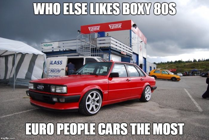 Who else likes 80s & 90s boxy euro sedans, wagons, coupes ...