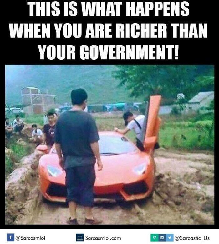 Or When You Still Think Of Your Lamborghini As A Tractor