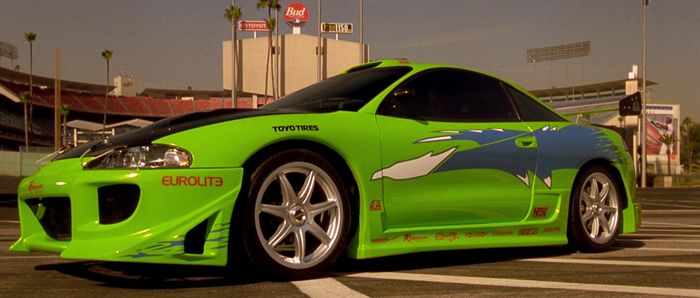 toyota supra fast and furious green. the very first one 1995 mitsubishi eclipse 2g gs toyota supra fast and furious green y
