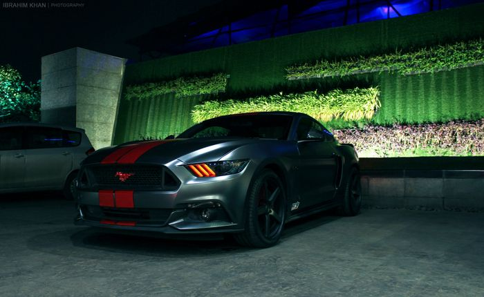 Mustang Gt Wrapped In Satin Dark Grey