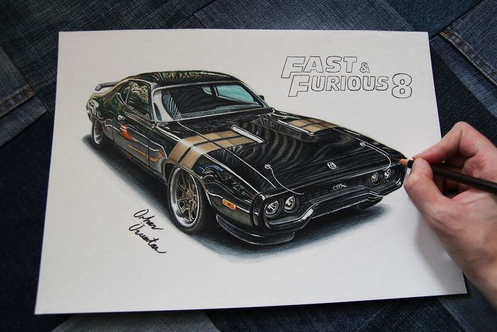 Fast And Furious 8 71 Plymouth Road Runner Drawing