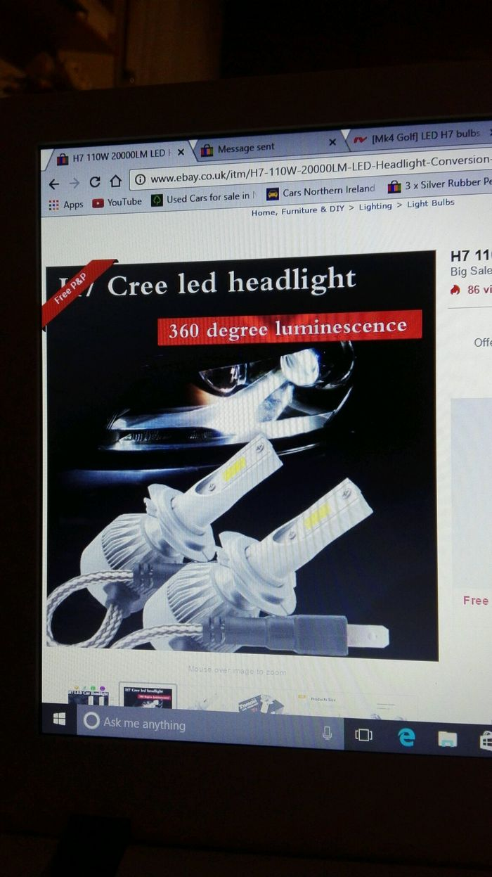 Led headlight bulbs for the golf ?