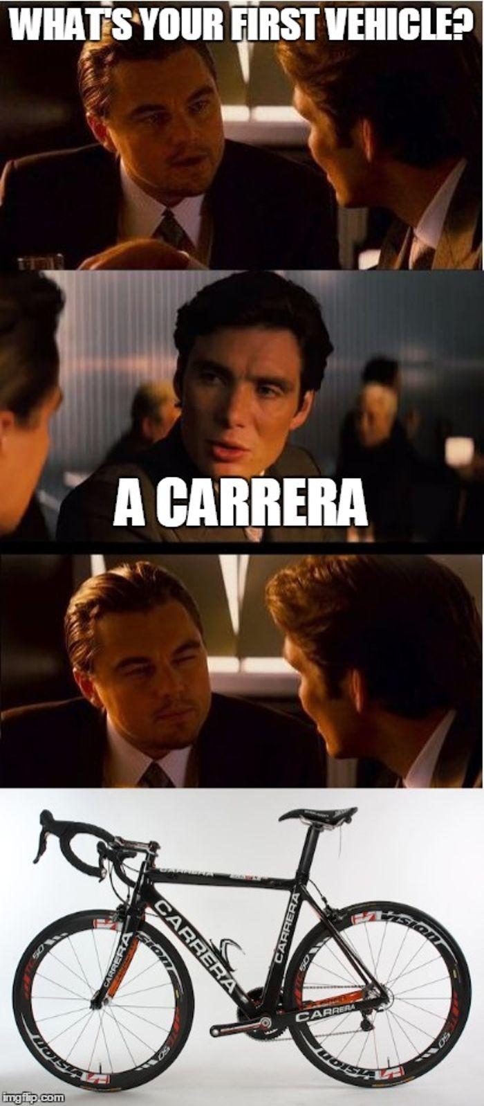 If only it was the Porsche    My friend has a Carrera bike