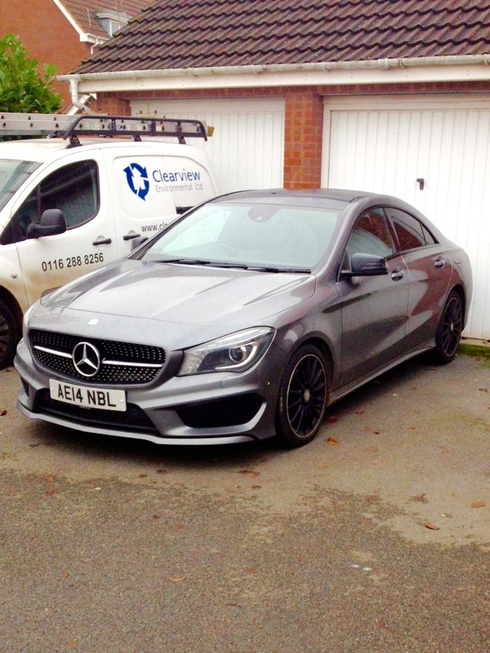 I spotted a #Mercedes CLA 45 AMG in Leicester